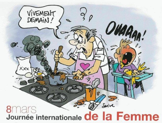 fête des femmes en caricature!!! 8mars