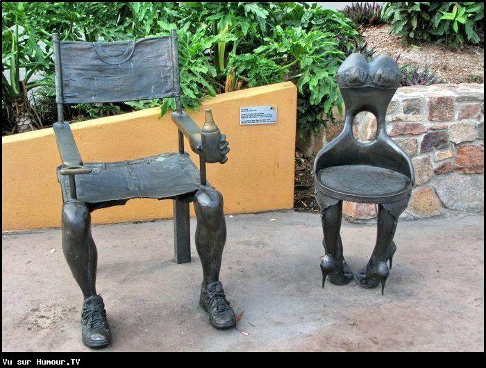 Soldes d 39 automne deux chaises de jardin originales et - Chaises de jardin soldes ...
